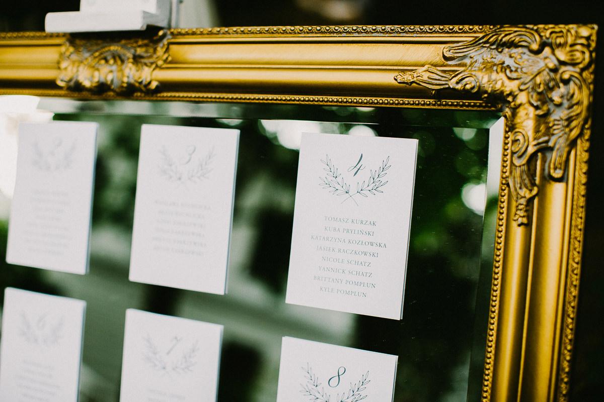 lista gosci weselnych na lustrze zdjecie